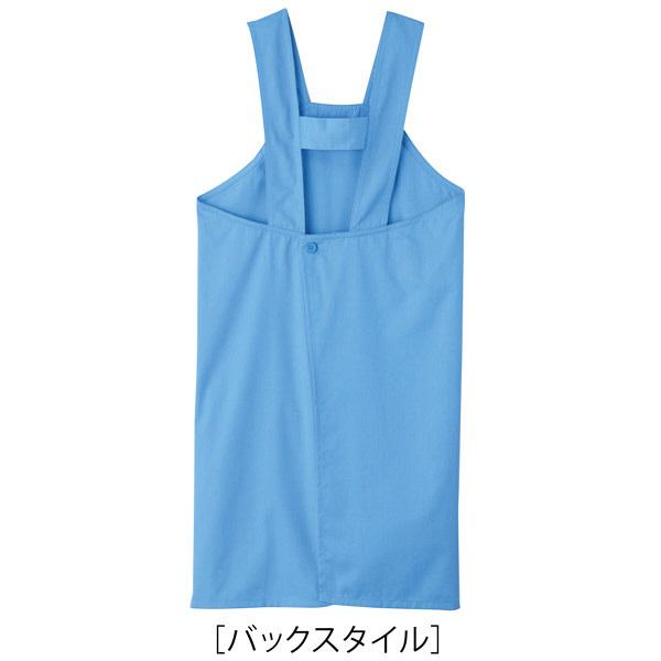 トンボ キラク エプロン ブルー フリー フリーサイズ CR006-80 1枚  (取寄品)