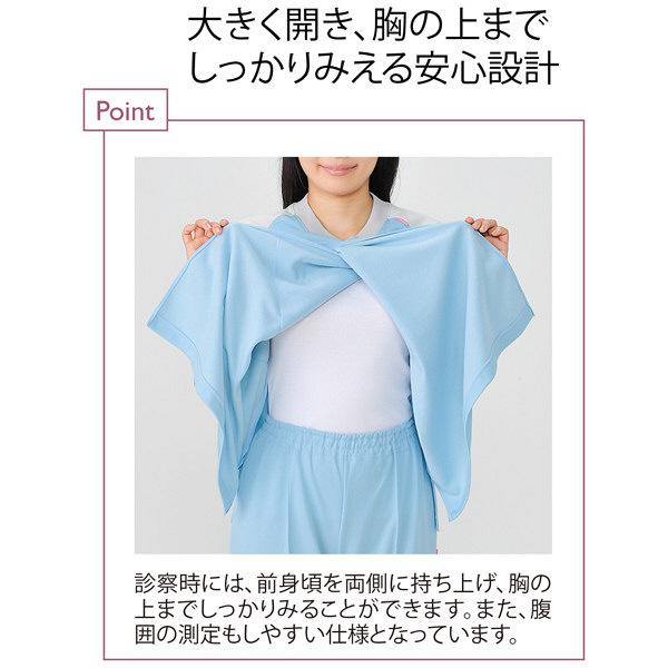 トンボ キラク 前開き検診用シャツ ピンク  LL CR831-13 1枚  (取寄品)