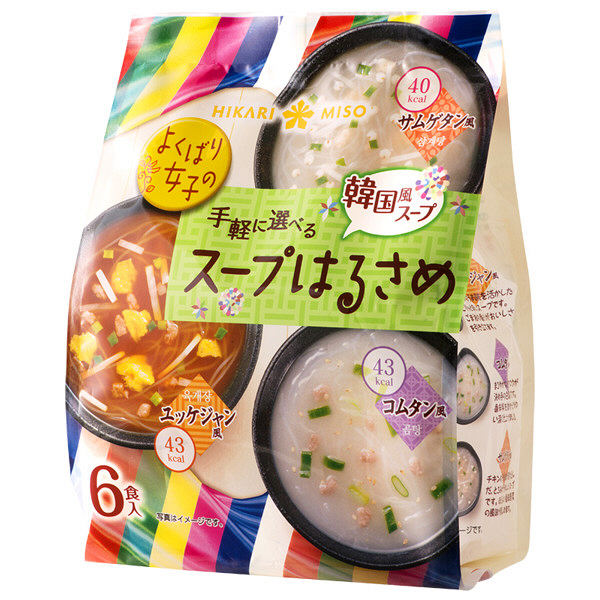手軽に選べるスープはるさめ 韓国風6食