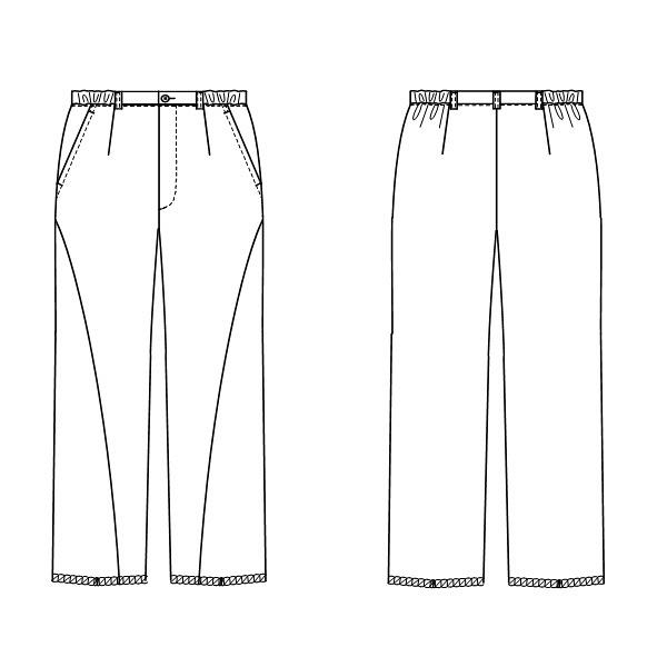 【メーカーカタログ】ナガイレーベン 女子パンツ  ベージュ  EL LH-6203 1枚  (取寄品)
