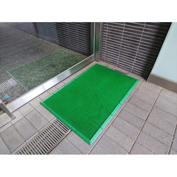 山崎産業 エバックサンステップマット ♯6 グリーン900×600 F-131-6