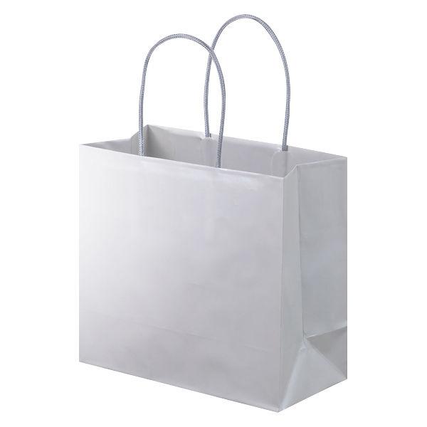 丸紐 手提げ紙袋 グレー M 10枚
