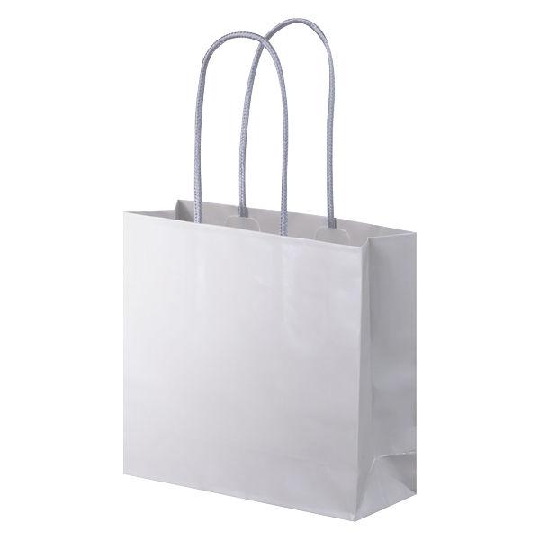 丸紐 手提げ紙袋 グレー S 10枚