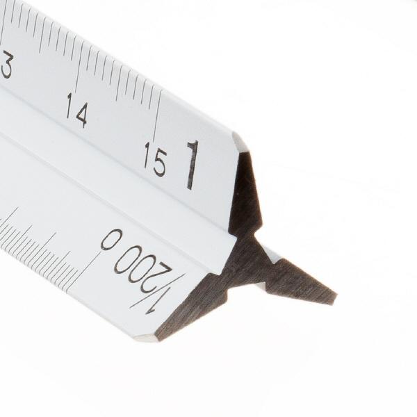 ステッドラー フルアルミ三角スケール ポケット型 一般用 15cm 987 15-11
