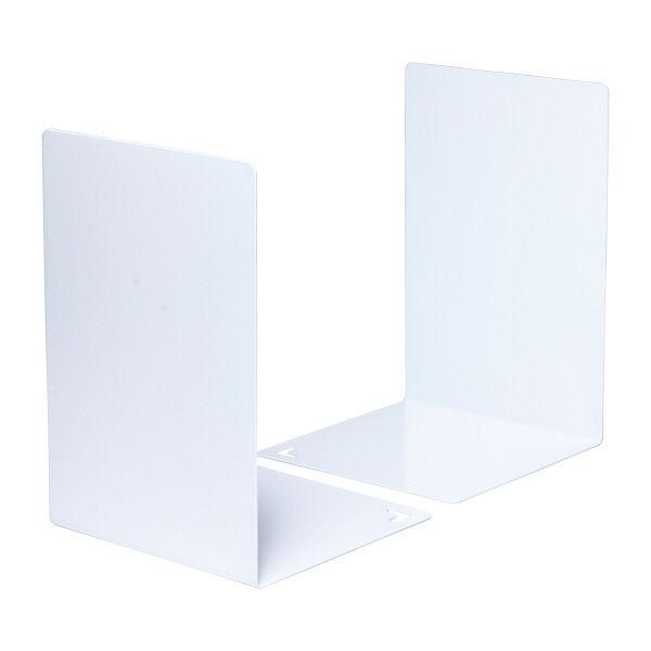 ブックエンド L型 白 2個