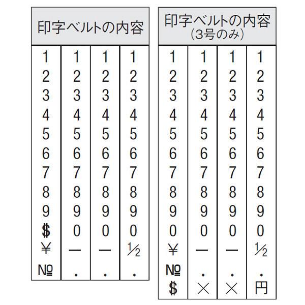 シャチハタ 欧文4連 4号 明朝体 CF-44M (取寄品)