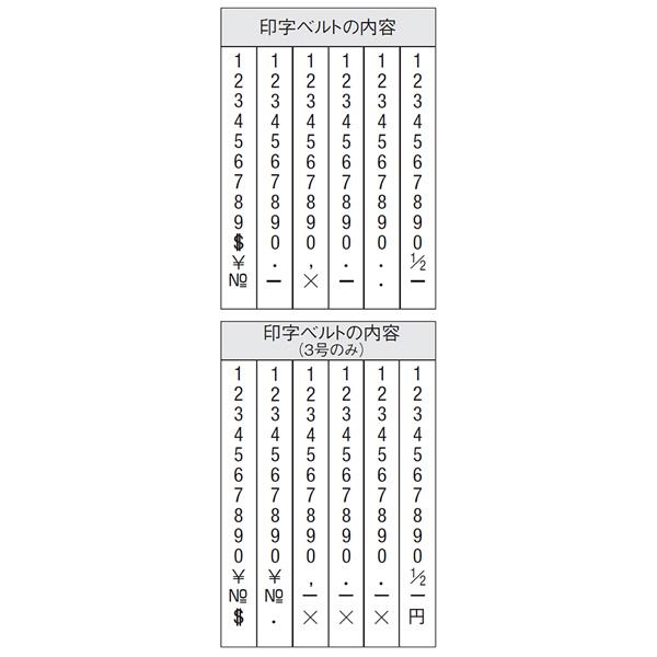 シャチハタ 欧文6連 3号 明朝体 CF-63M (取寄品)