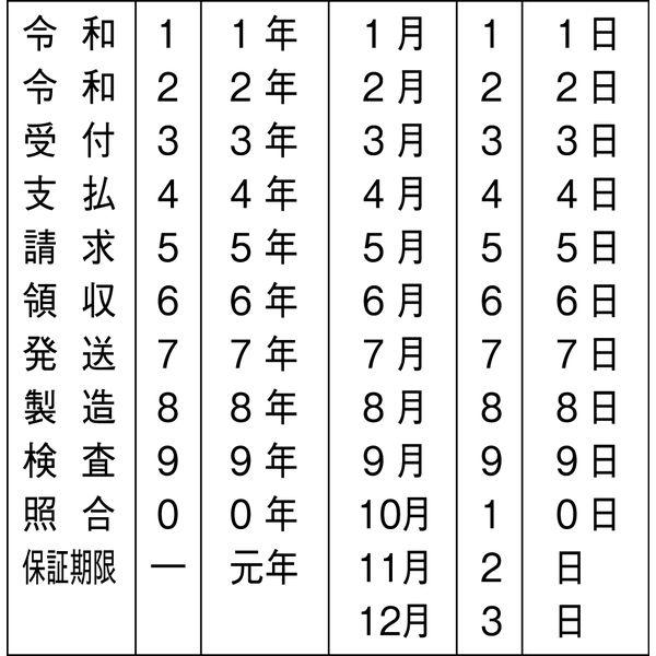 シャチハタ 和文日付(ヨコ/タテ) ヨコ5号 ゴシック体 CNW-5G (取寄品)
