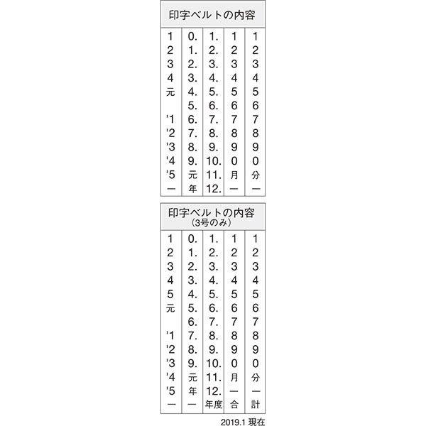 シャチハタ 欧文日付 3号 明朝体 NFD-3M (取寄品)