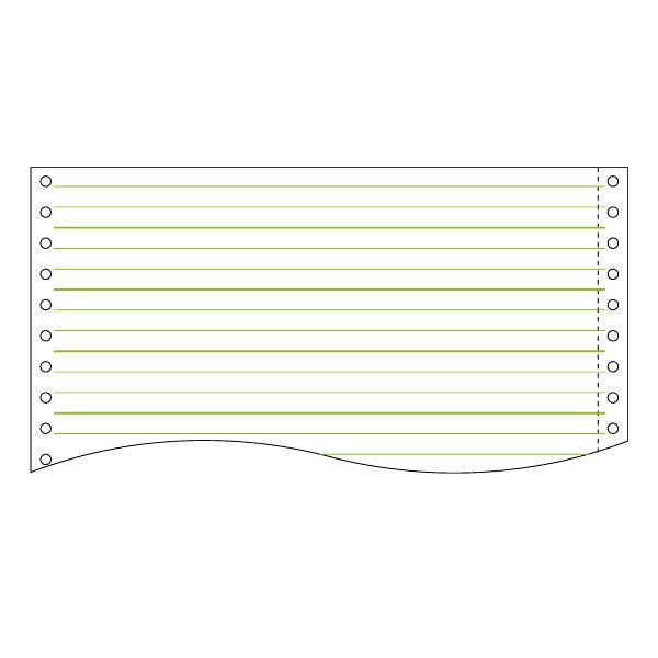 ストックフォーム(スリーライン)3P 11×15インチ グリーン罫 C15133 1箱(500set) トッパン・フォームズ株式会社