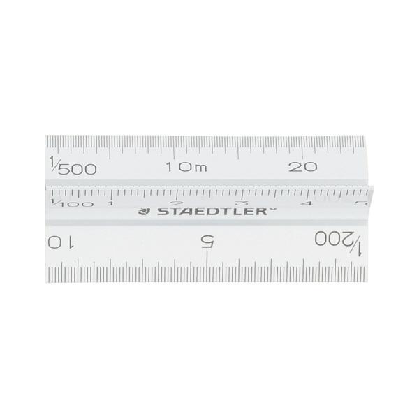 ステッドラー フルアルミ三角スケール 副尺(5cm)付 一般用 30cm 987 30‐4