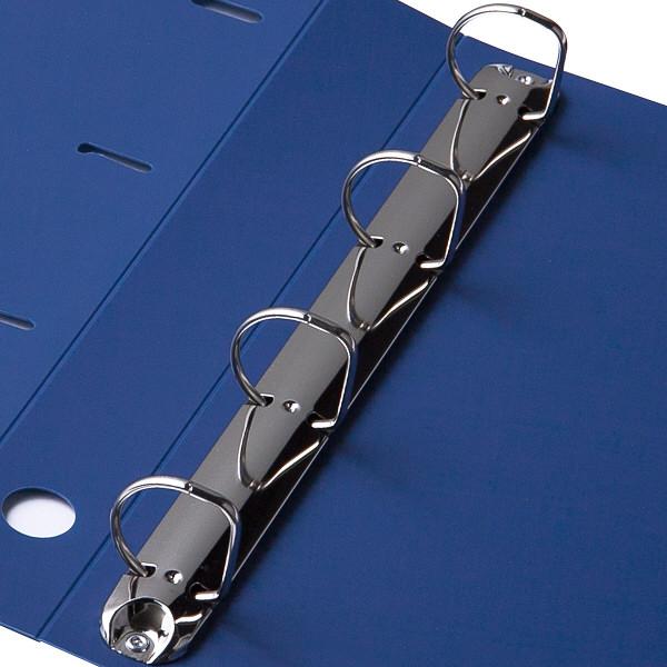 D型4穴リングファイル A4 ブルー