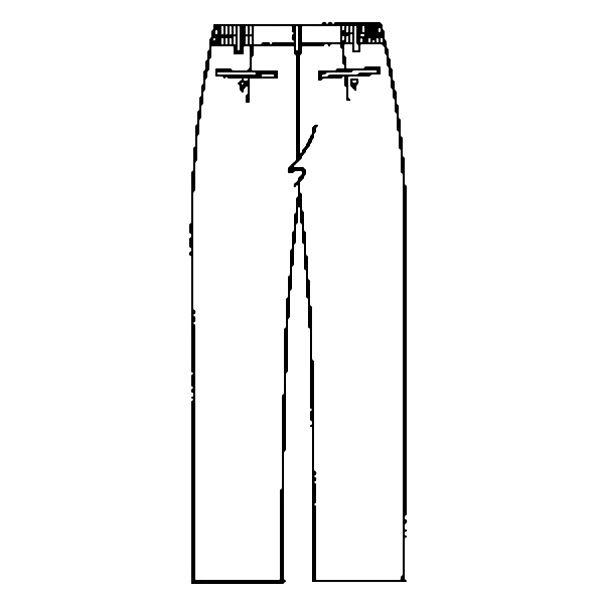 KAZEN ノータックパンツ 男女兼用 ベージュ L APK600-C/12(直送品)