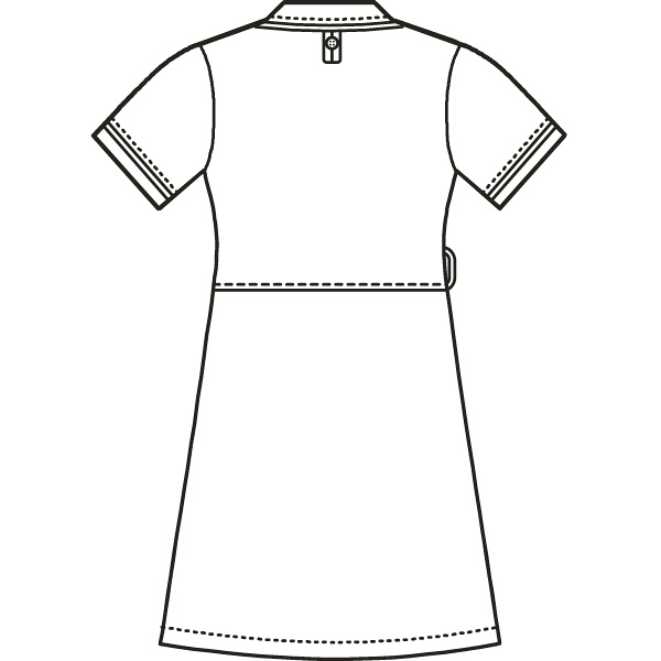 AITOZ(アイトス) アシンメトリーカラーワンピース ナースワンピース 医療白衣 半袖 ネイビー×ホワイト L 861114