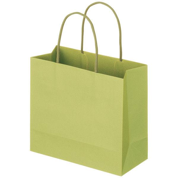 丸紐 手提げ紙袋 グリーン M 50枚