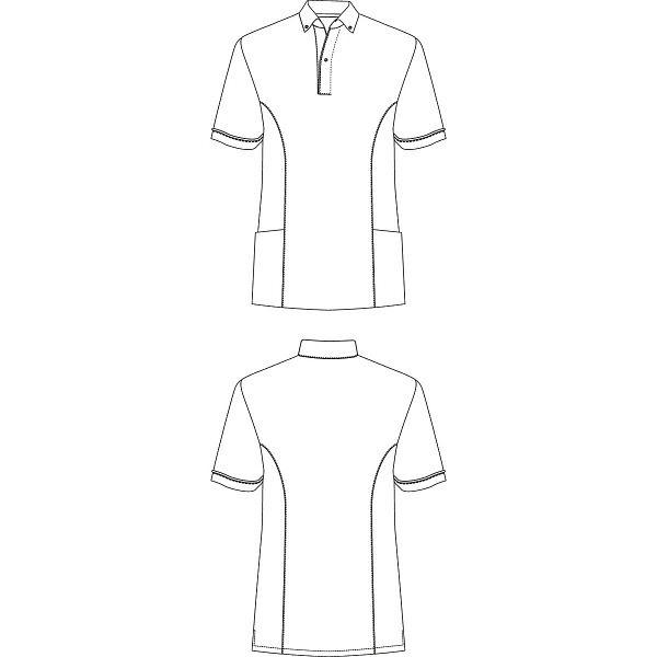 AITOZ(アイトス) サイドポケット半袖ポロシャツ 介護ユニフォーム 男女兼用 ピンク LL AZ7668-160