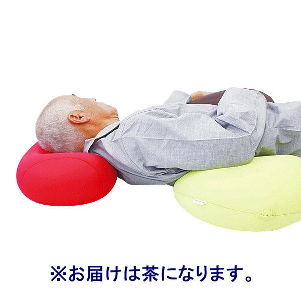 MOGU 体にフィットする穴あき枕 ビーズクッション 茶 744273 1個