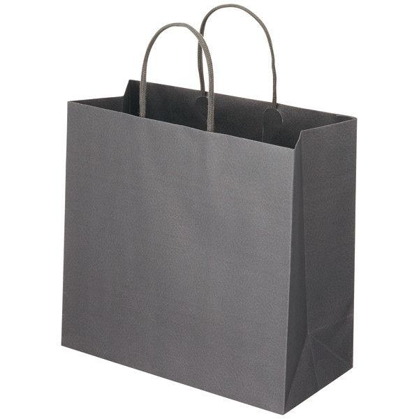 丸紐 手提げ紙袋 グレー L 50枚