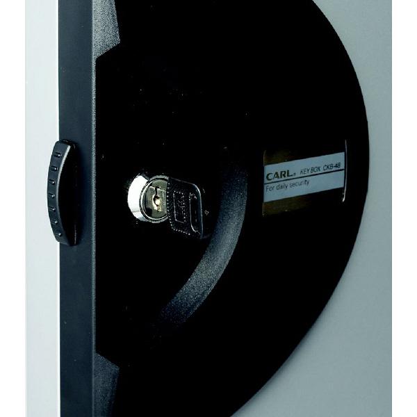 カール事務器 キーボックス シルバー 64個吊 CKB-64-S (取寄品)