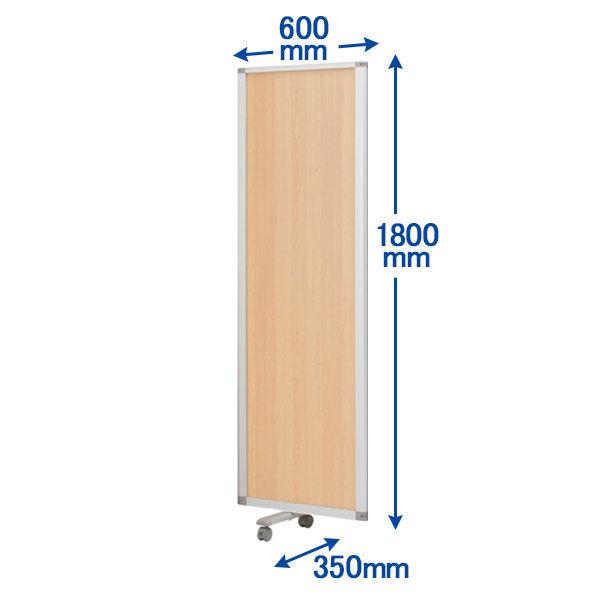 コマイ 連結スクリーン 増連用パネル 木目タイプ 高さ1800×幅600mm 1枚