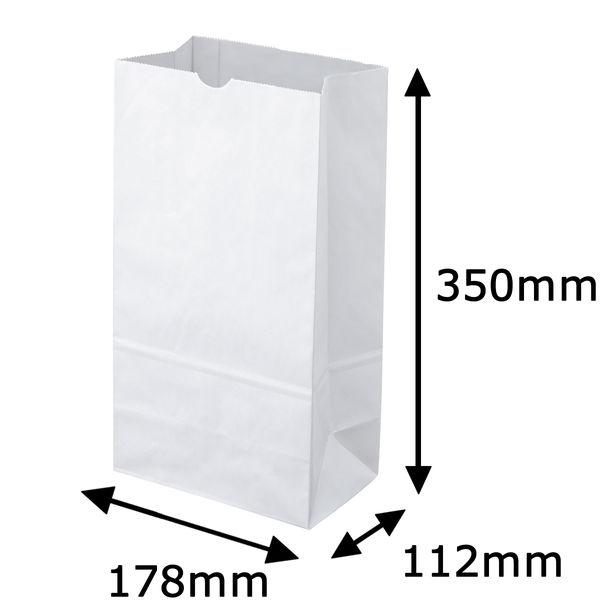 角底紙袋 白 12号 600枚