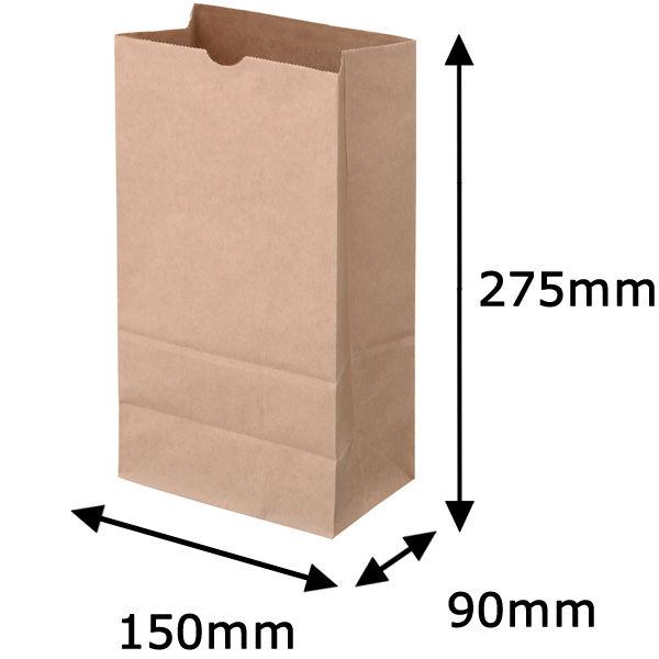 角底紙袋 茶 6号 2000枚
