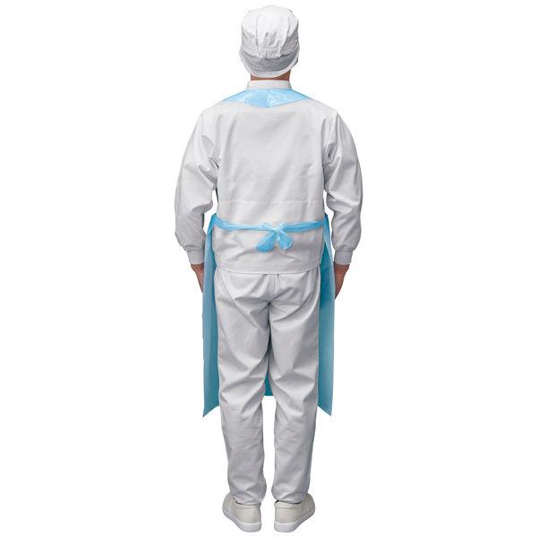 伊藤忠リーテイルリンク 袖無ポリエプロン ブルー PEG-005 1セット(800枚:100枚入×8箱)