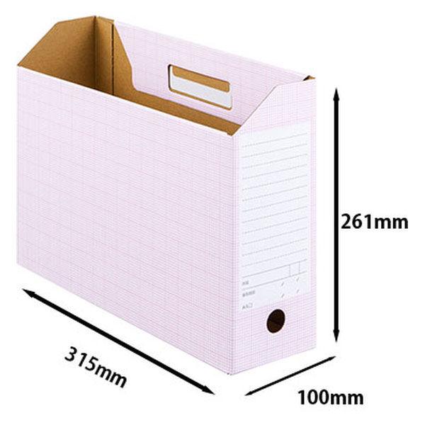 ボックスファイル A4横 ピンク 50個