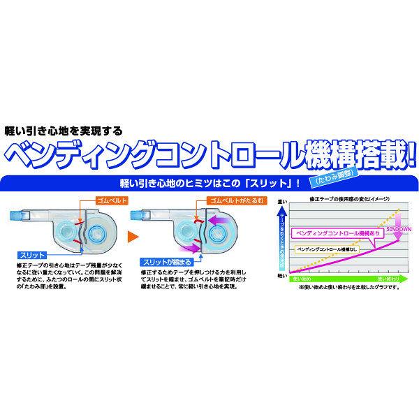 三菱鉛筆 修正テープuniホワイティア かるヨコ カートリッジ 4mm幅×11m 1箱(10個入)