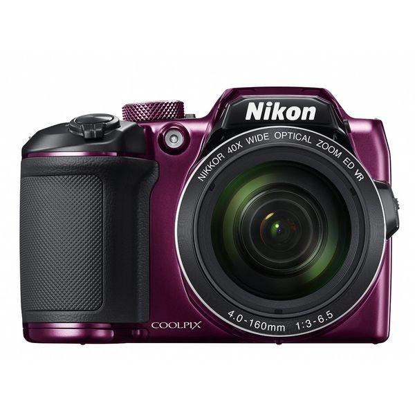 ニコン 光学40倍単3電池対応デジタルカメラ プラム COOLPIX B500P