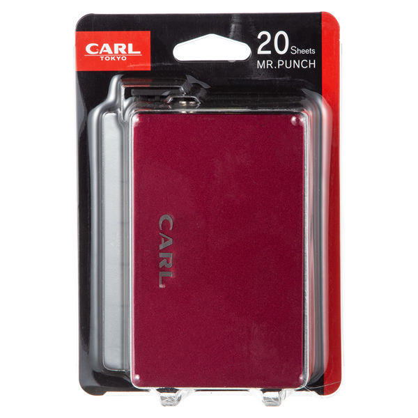 カール事務器 ミスターパンチ MRP-20 赤 3個