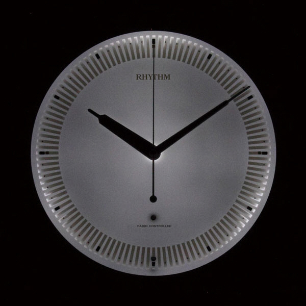 電波掛時計 リバライトRW496 ピンク