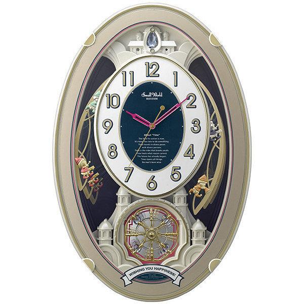 電波掛時計 スモールワールドウイッシュ