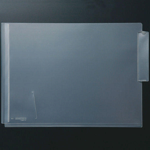 リヒトラブ HK708W カルテフォルダー A4ヨコ置き シングル(厚とじ) 1箱(50枚入) (直送品)