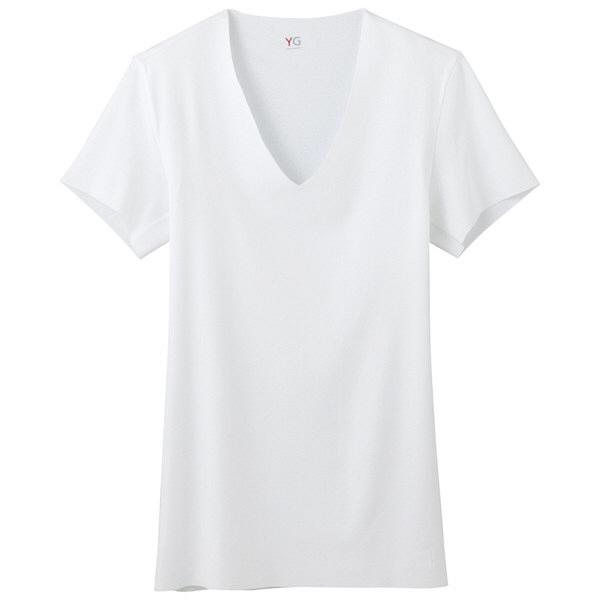 YG CUTOFF VネックTシャツ L