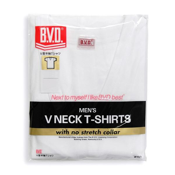 B.V.D. Vネック半袖Tシャツ L