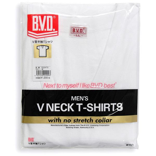 B.V.D. Vネック半袖Tシャツ LL