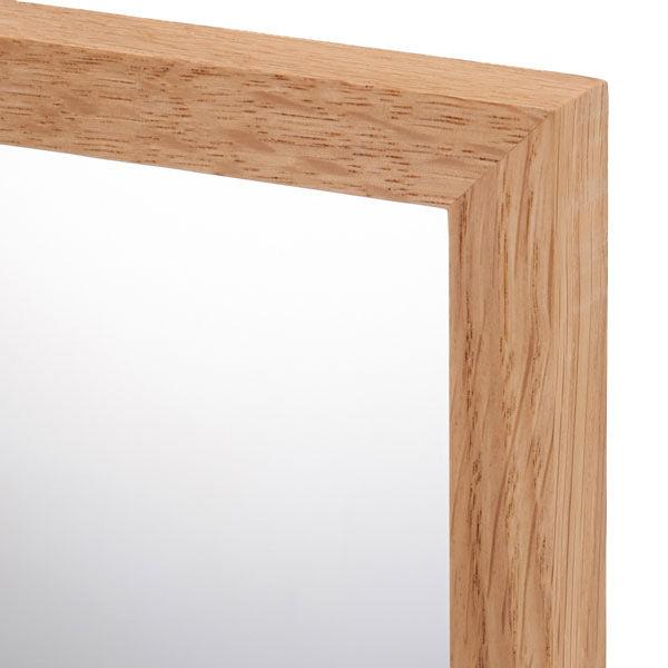 壁に付けられる家具・ミラー・小・オーク材