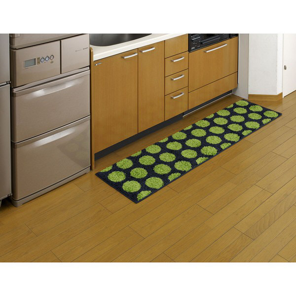 リング キッチンマット 45×180 緑