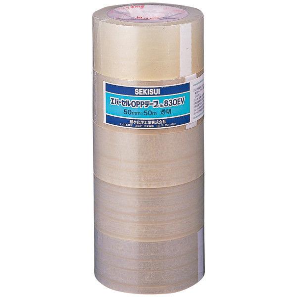 エバーセル OPPテープ No.830NEV 0.09mm厚 クリア 幅50mm×50m巻 1パック(5巻入) 積水化学工業