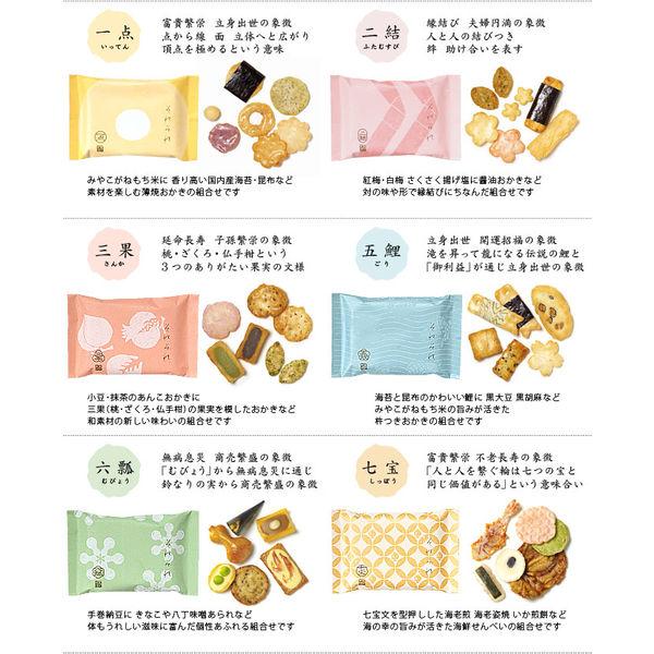 銀座あけぼの  それぞれ巾着 (6袋入)