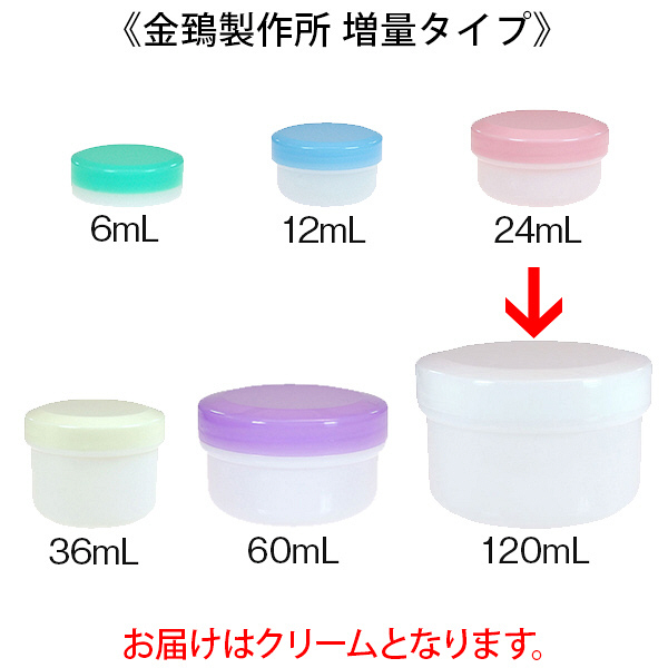金鵄製作所 アルファ軟膏壺(増量型軟膏容器) 120mL クリーム 1袋(20個入)