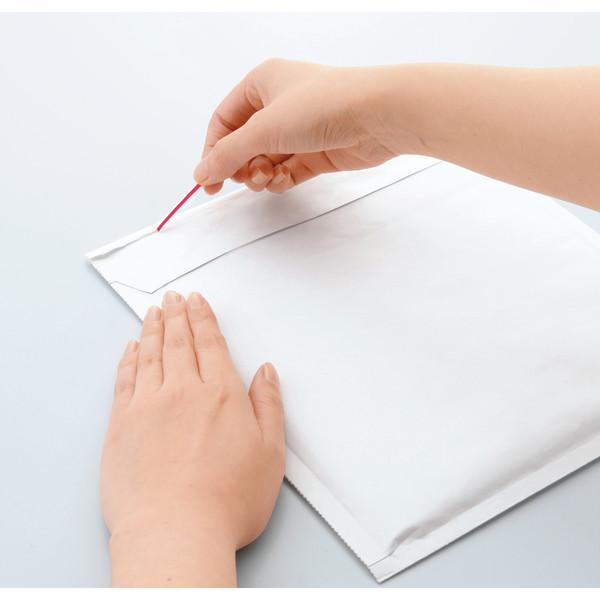 ポップクッション(クッション封筒) 文庫本・MO・FD用 白 無地 封緘シール付 1セット(50枚:10枚入×5パック) ユニオンキャップ