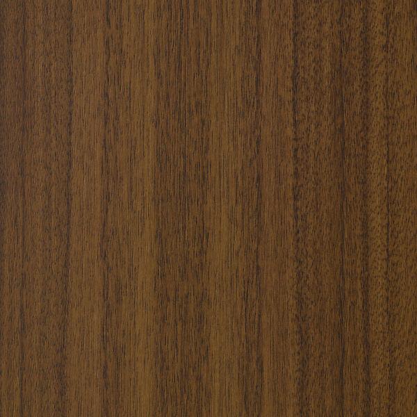 エムテックス ウッドラインキャビネット 3段 両開き ダークブラウン扉 木目柄天板・側板付 1台 (取寄品)