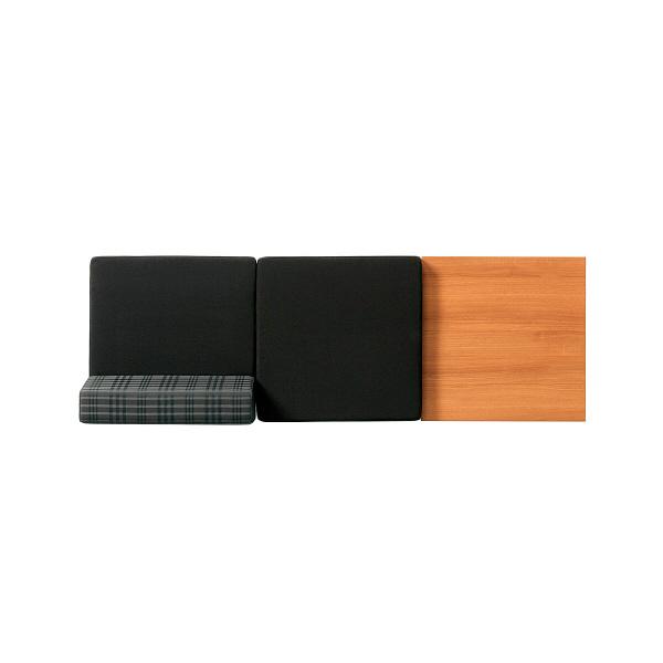 プラス シット&フィールドソファ 2人掛 背無1個背付1個テーブル1個 ブラック 1脚 (取寄品)