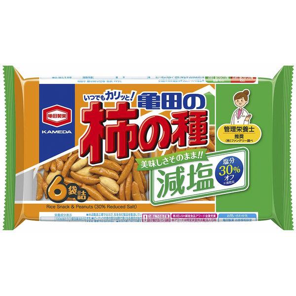 減塩亀田の柿の種6袋詰 182g 3袋