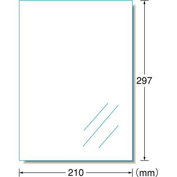 エーワン ラベルシール 水に強い パッケージラベル インクジェット 光沢フィルム 白 A4 ノーカット1面 1袋(5シート入) 29281