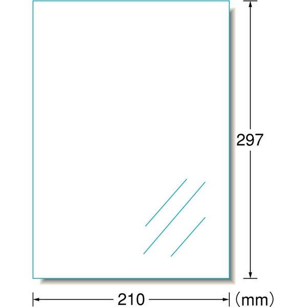 エーワン ラベルシール(インクジェット)水に強いタイプ 透明光沢 29293 1袋(4シート入)