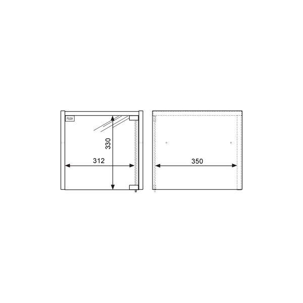 Garage(ガラージ) キューブコンポラック ガラス扉 上置き専用 木目(ナチュラル) 幅366mm 奥行400mm 高さ351mm 1台 (直送品)