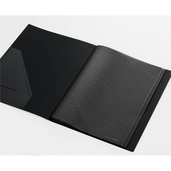 キングジム クリアーファイルカラーベース(タテ入れ) A4タテ 40ポケット 黒 132CW